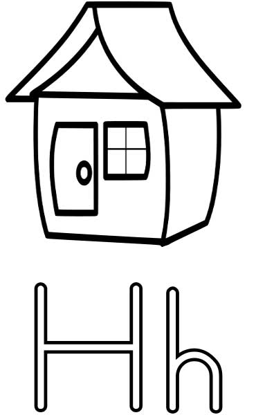 House Coloring Page Printable Worksheets For Kids