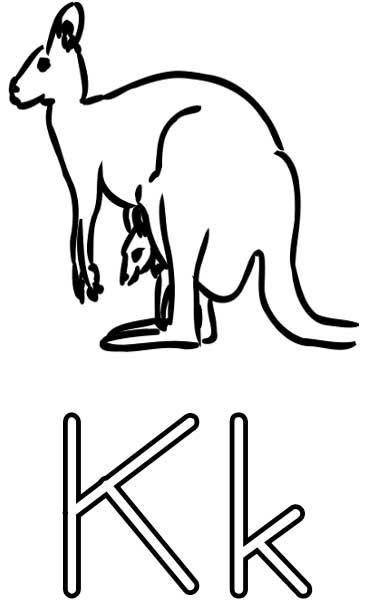 Kangaroo Coloring Page Printable