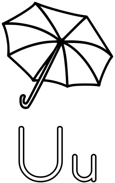 Umbrella Coloring Page Printable Worksheets for Kids