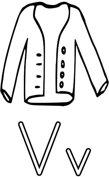vest coloring page