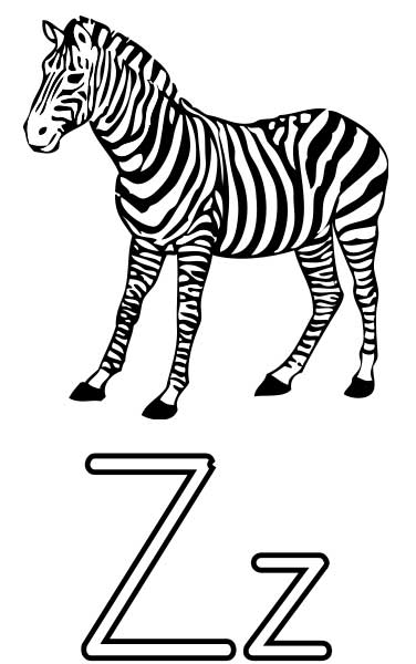 Zebra Coloring Page Printable